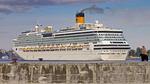 Kryssningsfartyget Costa Pacifica anländer till Stockholm
