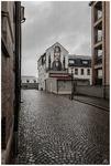 Regnig dag på Lilla Brännerigatan.