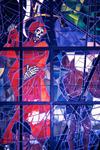 Detalj av glasmosaik i African Hall Addis