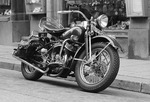 Motorcykel på Sveavägen