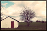 Ett litet hus på landet.