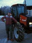 Porträtt vid traktorn