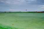 Stegen över golfbanan