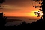 Solnedgång över Bråviken